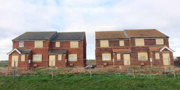 Boarded up homes