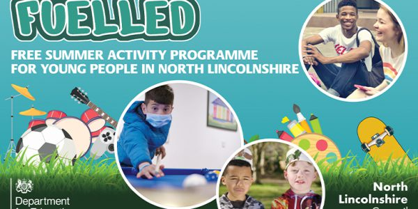 Fuelled graphic showing young people enjoying a variety of activities