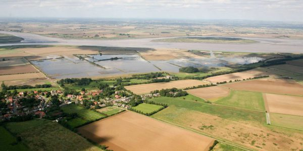 Aerial view of Alkborough flats area