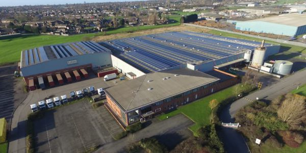 Aerial view of Lebus factory in Scunthorpe