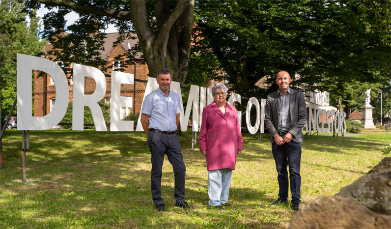 See local people's poems written large across Scunthorpe