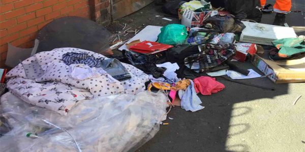 Photograph of fly-tipping on Digby Street, Scunthorpe