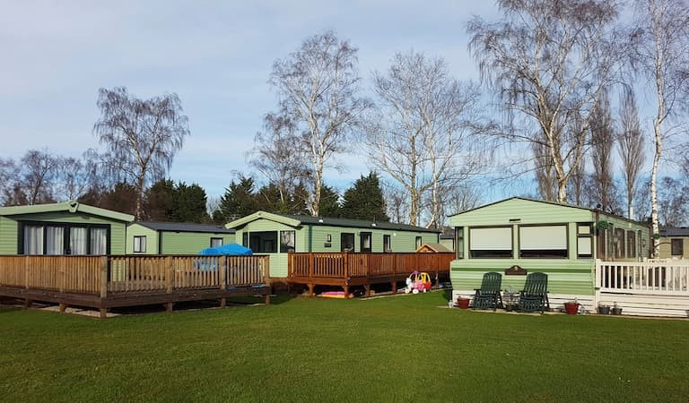 Mobile homes and camping site in the UK (Yorkshire)