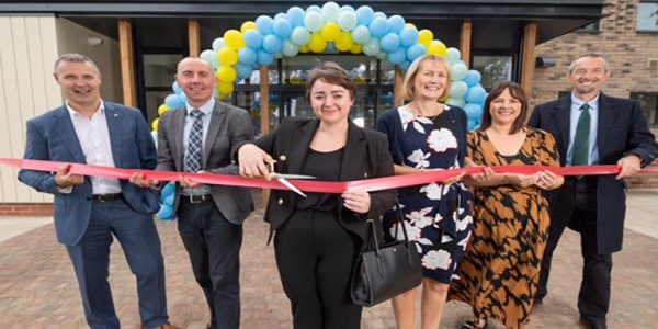 MP for Scunthorpe, Holly Mumby-Croft and leader of North Lincolnshire Council, Cllr Rob Waltham, pictured at the opening of Myos House