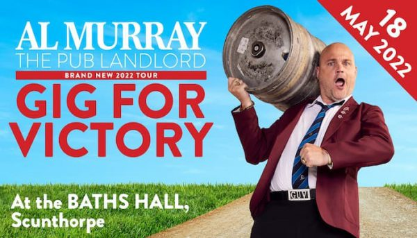 The Pub Landlord returns!  Al Murray is set to perform at The Baths Hall next May