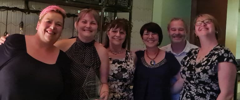 Catering team scoops award for going the extra mile