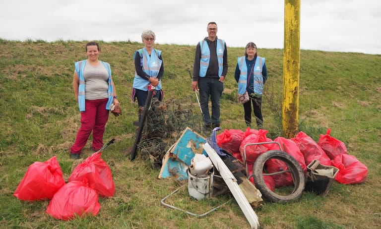 Huge reduction in litter pollution thanks to rivercare group