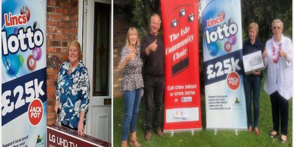 Lincs Lotto fourth birthday raffle winners