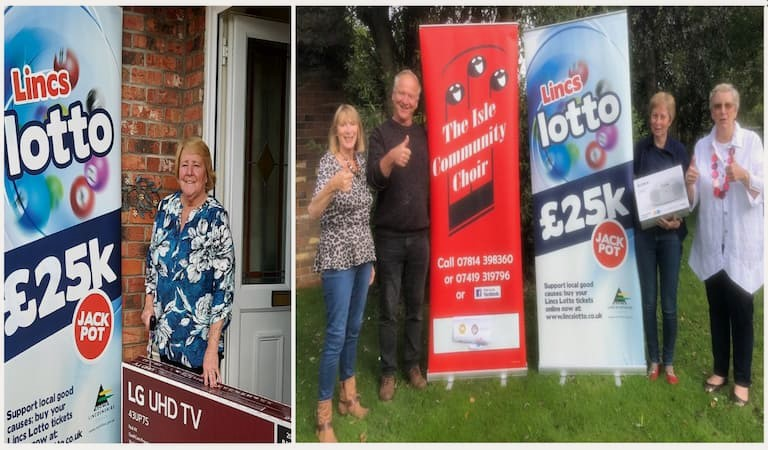 Lincs Lotto winners get lucky in fourth birthday raffle