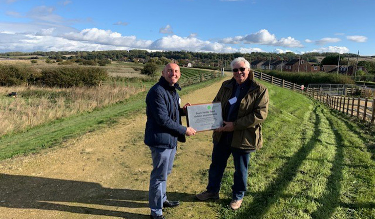 Council leader welcomes completion of £14m South Ferriby flood defences