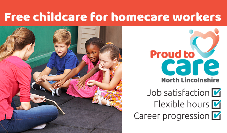 Start your career in care and get free childcare